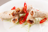 Roll food wrappers — Stock Photo