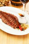 Steak in the bar — Stock Photo