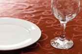 Glass on the table — Stock Photo