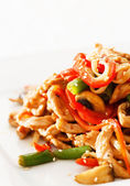 Noodle with meat and vegetables — Stockfoto
