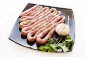 Raw sausages — Stock Photo
