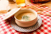 Soup in the pot — Stock Photo