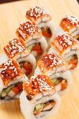 Sushi with eel — Stock Photo