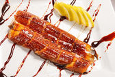 Japanese food roast eel — Stock Photo