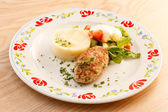 Cutlet with mashed potatoes — Stock Photo