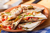 Tortilla with vegetables — Stock Photo