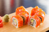 Sushi on the wood board — Stockfoto