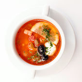 Solyanka soup — Stock Photo
