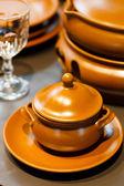 Ceramic utensils — Stock Photo