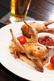 Baked quail — Stock Photo