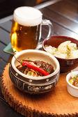 Beef with sauce — Foto de Stock