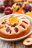 Plum cake — Stock Photo