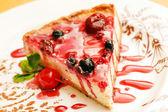 Cheesecake with berries — Stock Photo