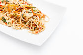Noodle with chicken — Stock Photo