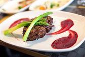 Filete con salsa — Foto de Stock