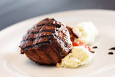 Steak with  potatoes — Stock Photo