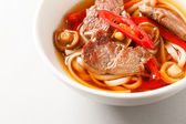 Beef noodle soup — Stock Photo