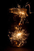 Christmas and newyear party sparkler — 图库照片