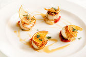 Roasted scallop — Stock Photo