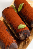 Chocolate pastry — Stock Photo