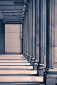Colonnade with  columns — Stock Photo