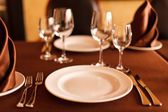 Table set — Stockfoto