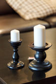 Candles on table — Stock Photo
