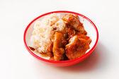 Reis mit huhn — Stockfoto