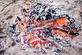 Bonfire on the ground — Stock Photo