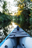 Kayak on a small river — Foto Stock