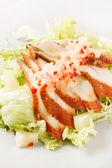 Salat mit aal — Stockfoto