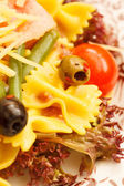 Salad with pasta — Stock Photo