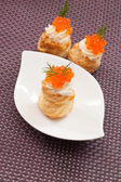 Puff pastry with cream cheese — 图库照片
