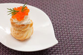 Puff pastry with cream cheese — Stock Photo