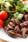 Salad with Beef and  Tomato — Stock Photo