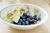 Muesli with fruits — Stock Photo