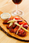 Grilled ribs in the bar — Stock Photo