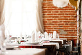 Tables set for meal — Foto Stock