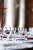 Tabellen für essen — Stockfoto