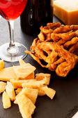ワインとチーズ — ストック写真