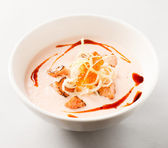 Fish cream soup — Stock Photo