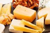 Different kinds of cheese — Stock Photo