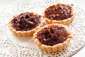 Chocolate tarts — Stock Photo