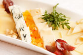 Plate of cheese — Stockfoto