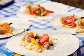 Tortilla on plate — Stok fotoğraf