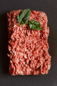 Minced meat with spinach — Stock Photo