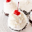 Cupcakes with cream and cherry — Stock Photo #51446681