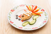 Fish cutlet for kids menu — Stock Photo