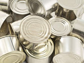 Canned products, closeup — Stock Photo