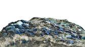 Sapphire and uvarovite crystallization — Stock Photo